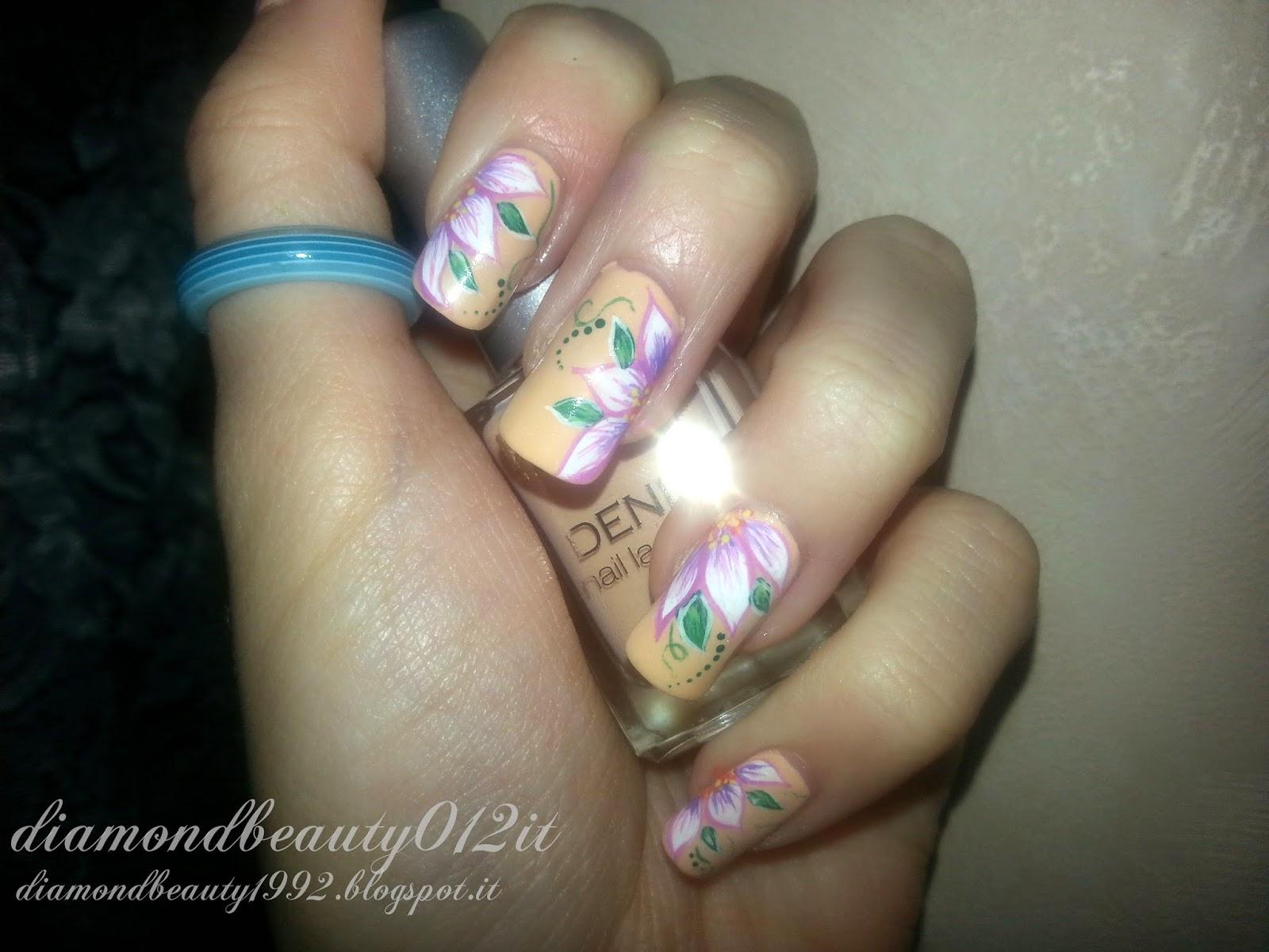 tutorial nail art fiori di primavera