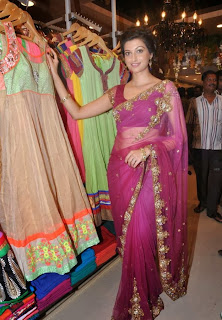 Actress Hamsa Nandini Latest Pictures in Saree at Kalamandir ShowRoom Launch  0039
