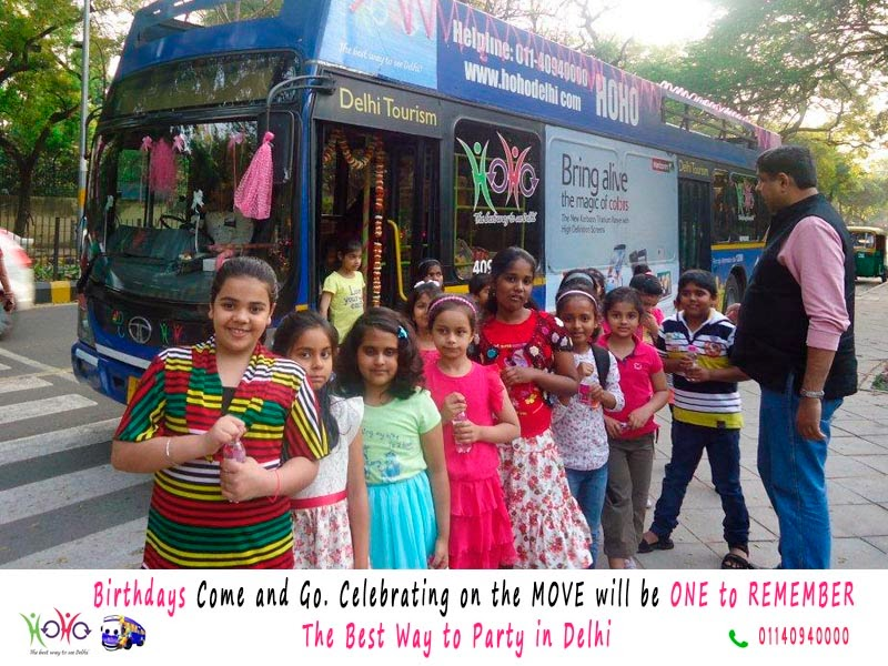birthday party in HOHO bus Delhi