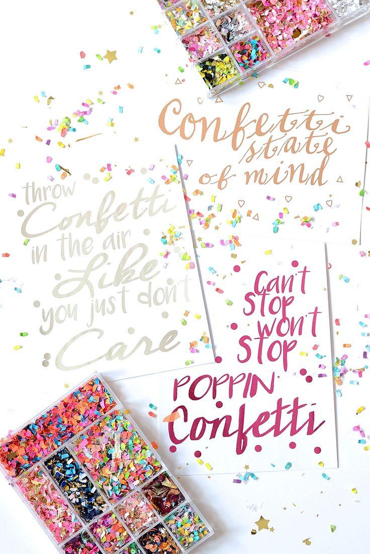 The Confetti Bar; confetti prints