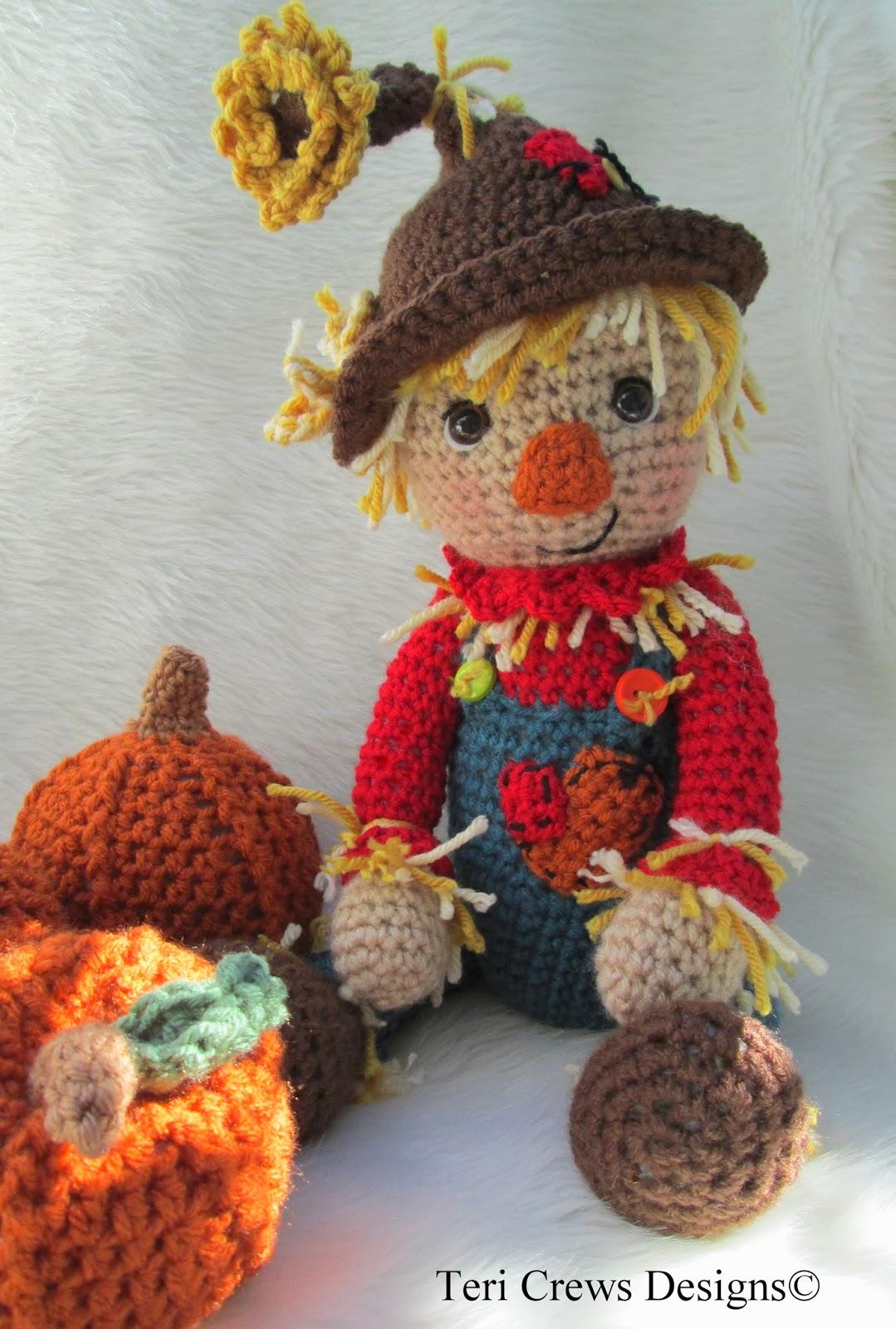 Teri\'s Blog: New Simply Cute Scarecrow Pattern & Free Cute Pumpkin ...