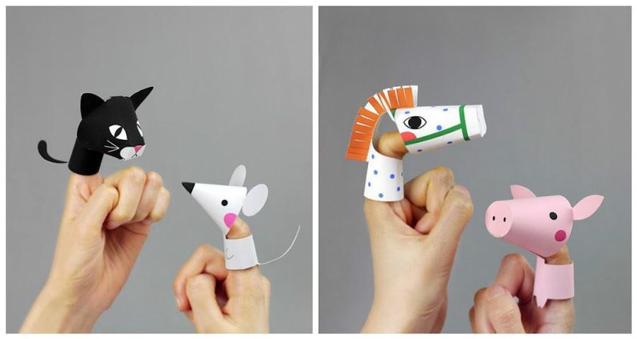 Como hacer titeres de papel - Manualidades facilisimas para ninos ...