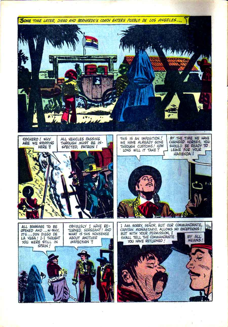 Zorro Four Color 882 1950s Dell Comic Book Page Art By Alex Toth