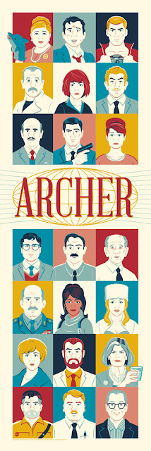 Archer Screen Print by Dave Perillo x Dark Ink Art x Acme Archives Direct