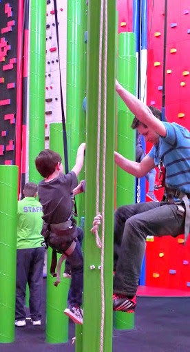 Clip n Climb Maryport - Father and Son head to head.