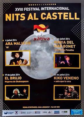 cartel nits al castell Xàtiva