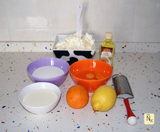 Easter cheesecake ingredientes