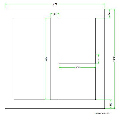 membuat gambar daun meja dalam autocad