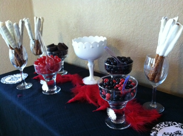 Candy Bar With Red White