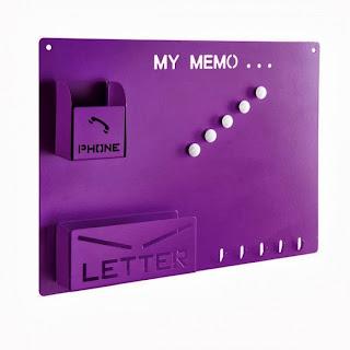 Tableau mémo violet
