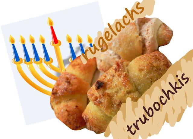 petits gâteaux fourrés à la confiture d'abricot, Hanouka, repas laitier