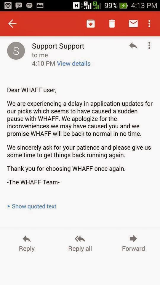 Download WHAFF .APK Tidak tersedia di Play Store