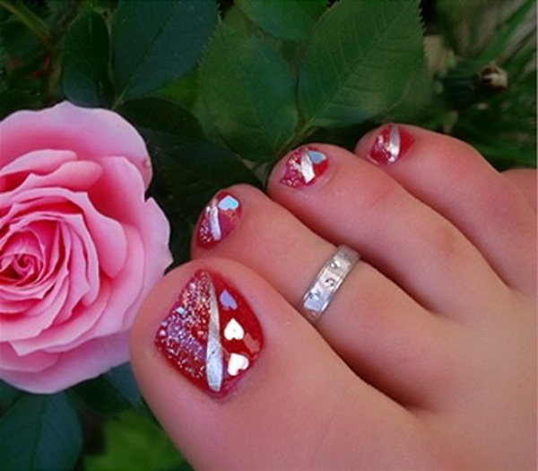 Foot Nail Art Design: Lamste Famail: Toe Nail Art Designs For Christmas 2012