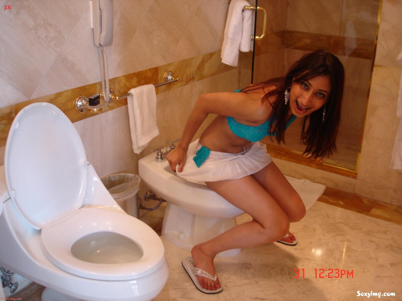 Indian Girl On Toilet