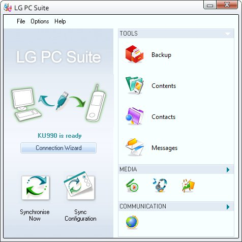 All LG Mobile PC Suite - PC Sync - PC Studio Free Download