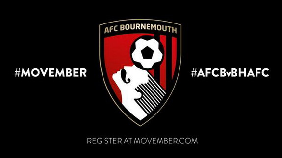 Bournemouth add moustache to club badge in support of Movember