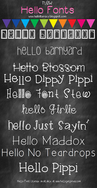happy once of the month  u0026 new hello fonts release