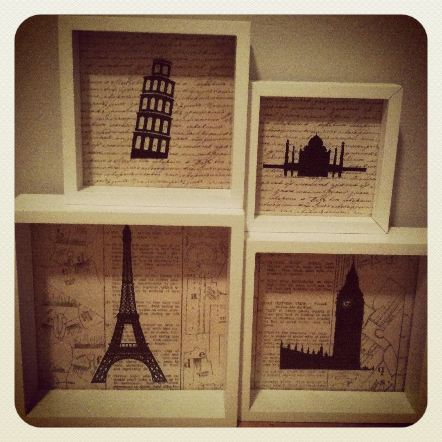 Backpacks and Sewing Machines: Homemade Monument Frames