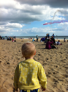 Watching the Red Arrows - Bournemouth Air Fest 2012