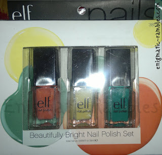 ELF-eyes-lips-face-nail-polish-set-beautifully-bright-teal-blue-yellow-party-peach-