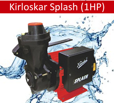 Kirloskar Splash (1HP) Online, India - Pumpkart.com