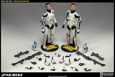 "Sideshow Collectibles 1/6 Scale Star Wars 12"" 501st Clone Trooper 2-Pack"