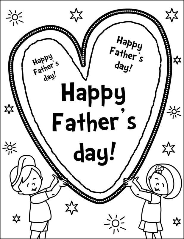 fathers day card coloring pages - photo#27
