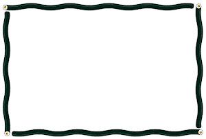 節分のフレーム素材(恵方巻き・波線)横