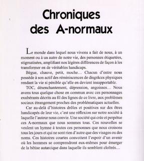 Chroniques des A-normaux - Auteur Leroux Nicolas