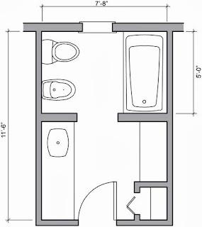 Bathroom floor plan design for Half bathroom floor plans