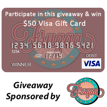 Enter the $50 Visa Gift Card Giveaway, sponsored by Frugaa. Ends 5/3.