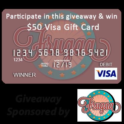 Enter the $50 Visa Gift Card Giveaway, sponsored by Frugaa. Ends 5/3.