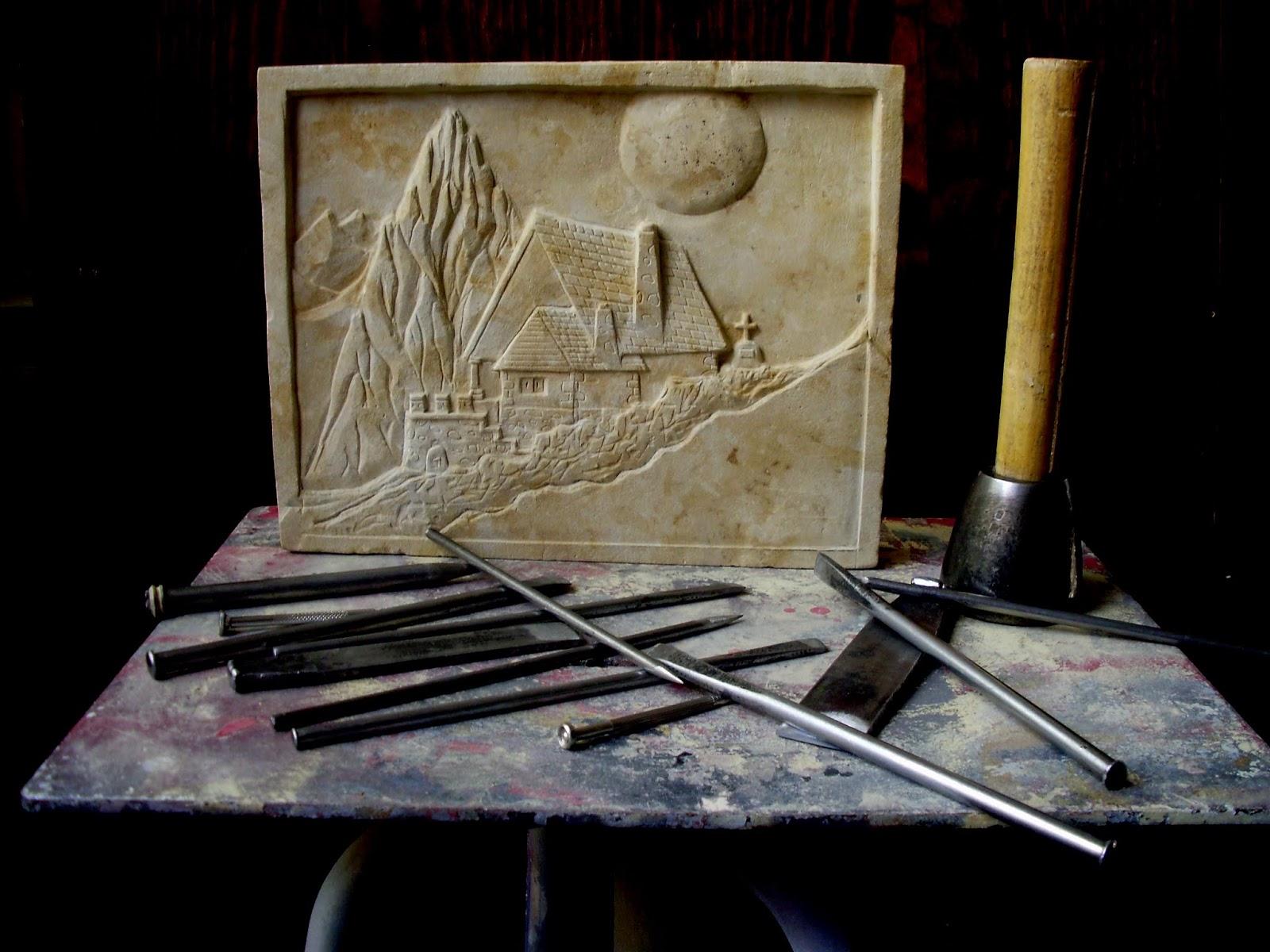 Manj n arte herramientas de trabajo para piedra de villamayor - Herramientas para piedra ...