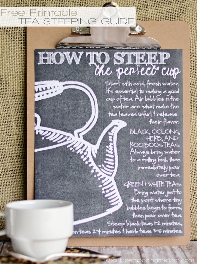 How to Steep the Perfect Cup of Tea {with Free Printable Guide}