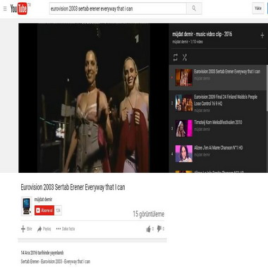 youtube com - eurovision 2003 sertab erener everyway that i can