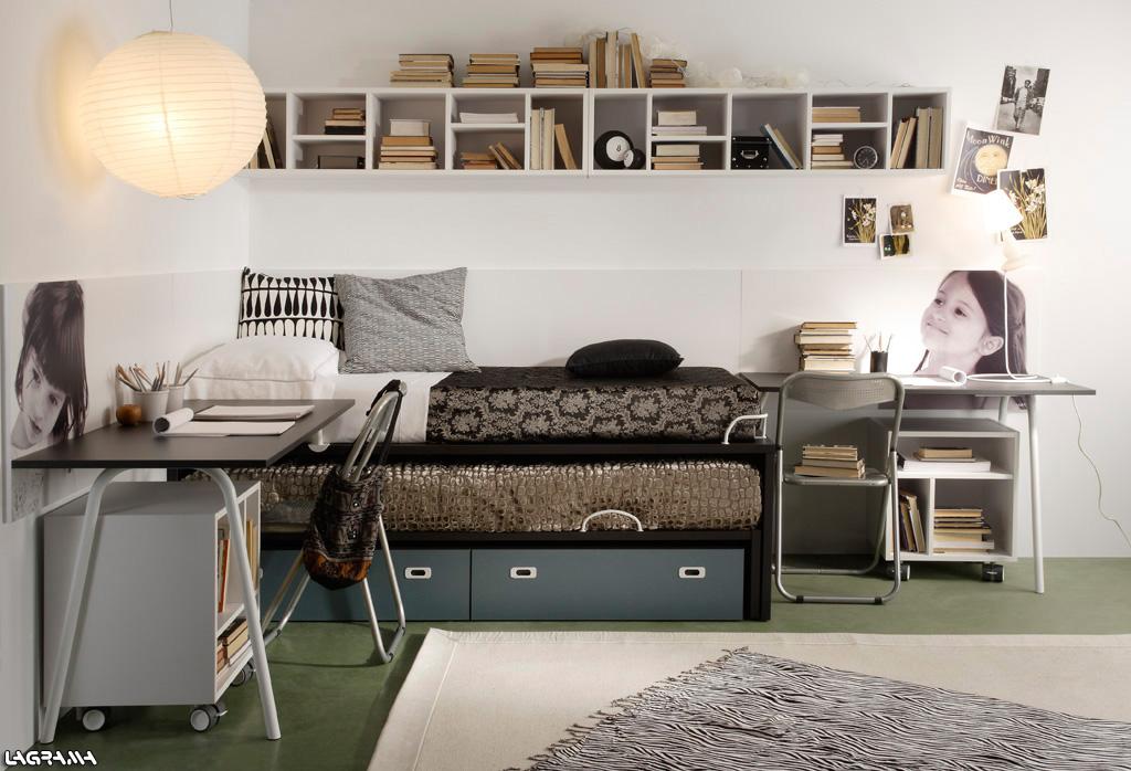 Dormitorios juveniles para adolescentes de 12 a os 13 a os for Decoracion habitacion nina de 8 anos
