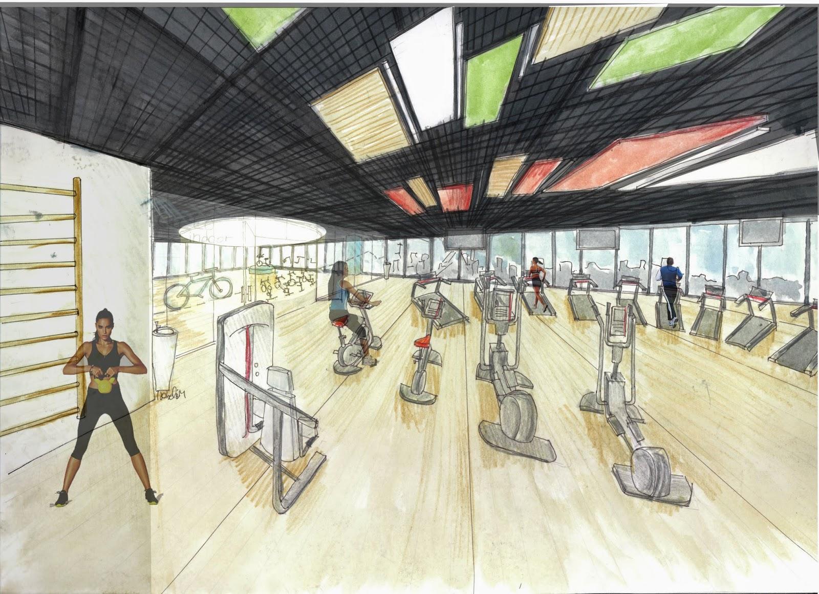 Dibujo en acuarela de gimnasio mi universo diy for Que es un gimnasio