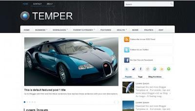 Temper Blogger Templates