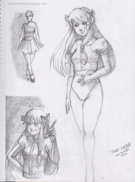 Dibujo de Melody en lápiz.