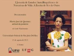 I Jornada de Estudos (Auto)Biográficos e Narrativas de vida - UFSJD - 21 de agosto de 2013