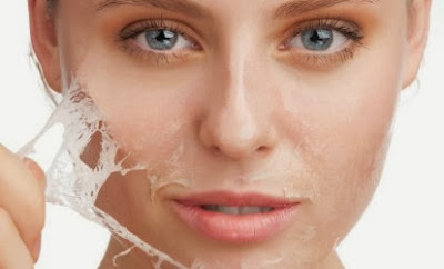 facial peeling and removing dark spots