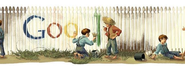 Google recuerda a Mark Twain con un doodle muy original