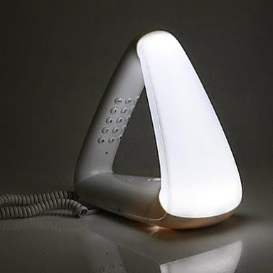 Teléfono de Sobremesa Triángulo con Luz de Noche