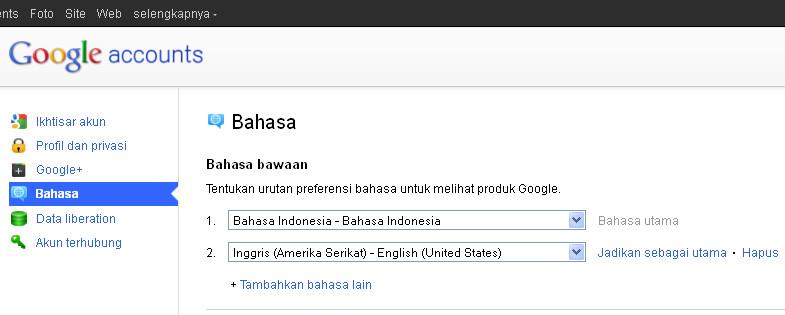 Google+ in Bahasa Indonesia language