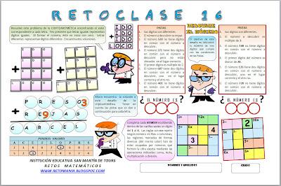 Reto Matemático, Problemas de Ingenio, Problemas de Lógica, Desafíos Matemáticos, Ken Ken, Picas y Fijas, Descubre el Número