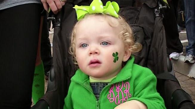 st-st patrick-saint patrick: Happy: St Patick's Day Tradicional Parade Babies Show