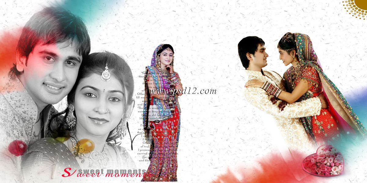 Photoshop Backgrounds: Indian Wedding Album Templates - Karizma ...
