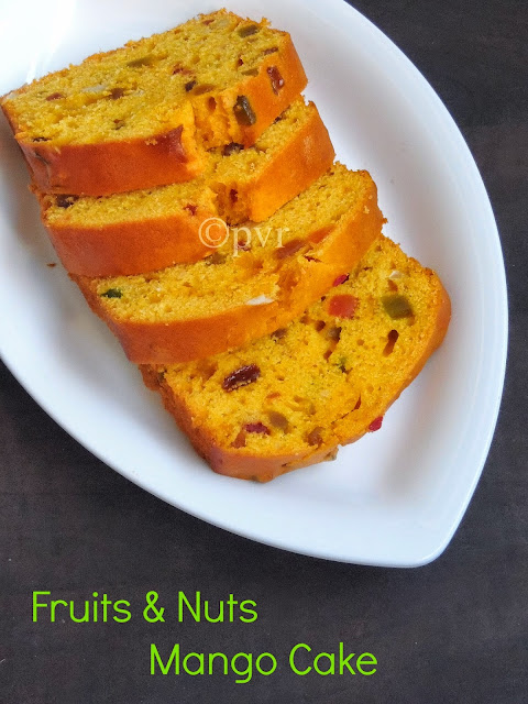 Fruits & nuts Mango Pound Cake