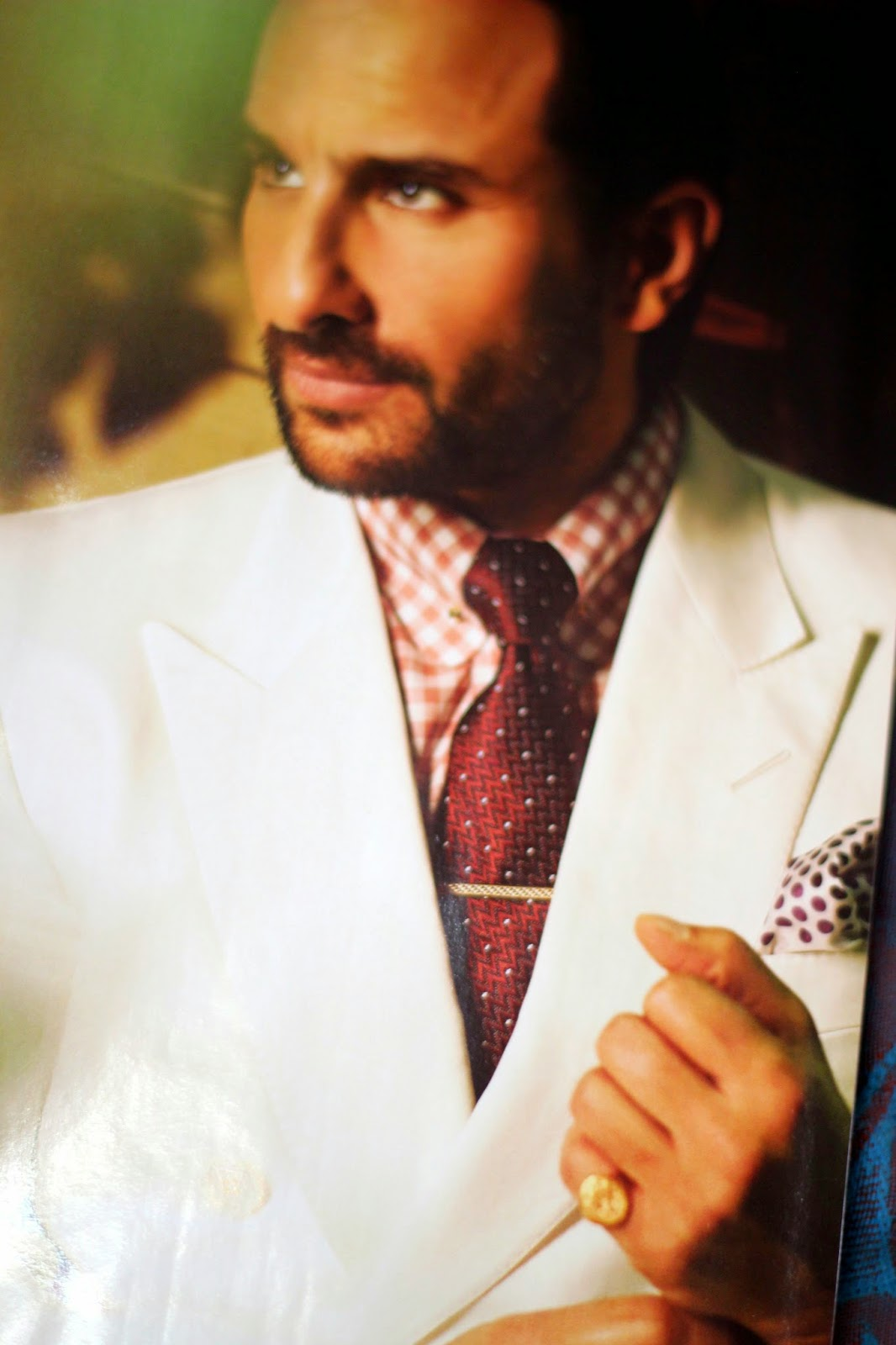 Saif Ali Khan in Double Breasted White Suit Covers GQ India June ...