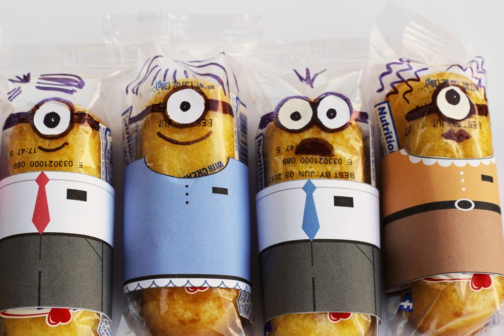 Minionary Twinkie Wrappers